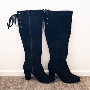 JustFab Faux Suede Boots